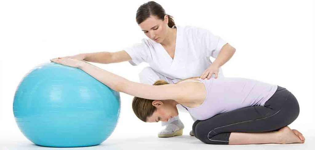 Exercise ball rehab